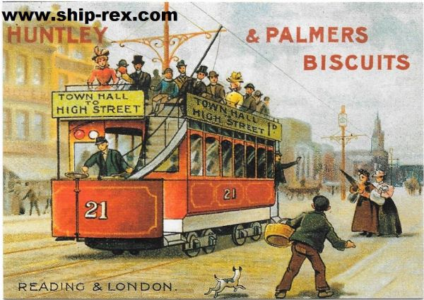 Huntley & Palmers Biscuits - retro postcard